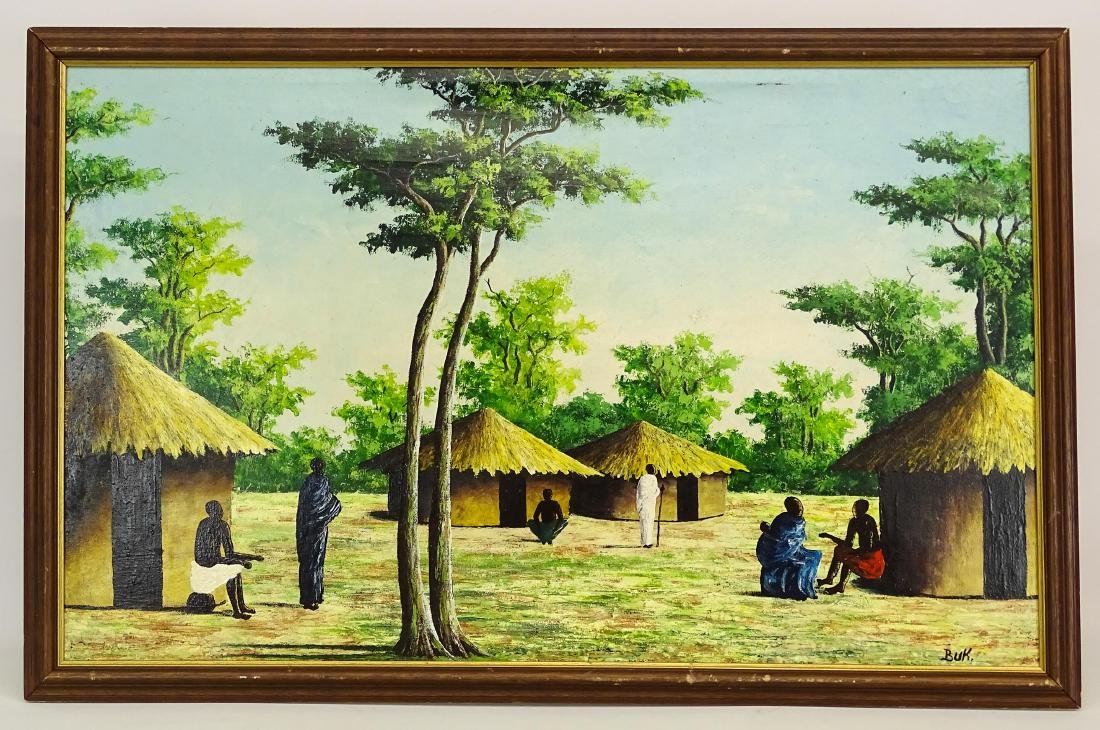 Haitian School, Village Scene