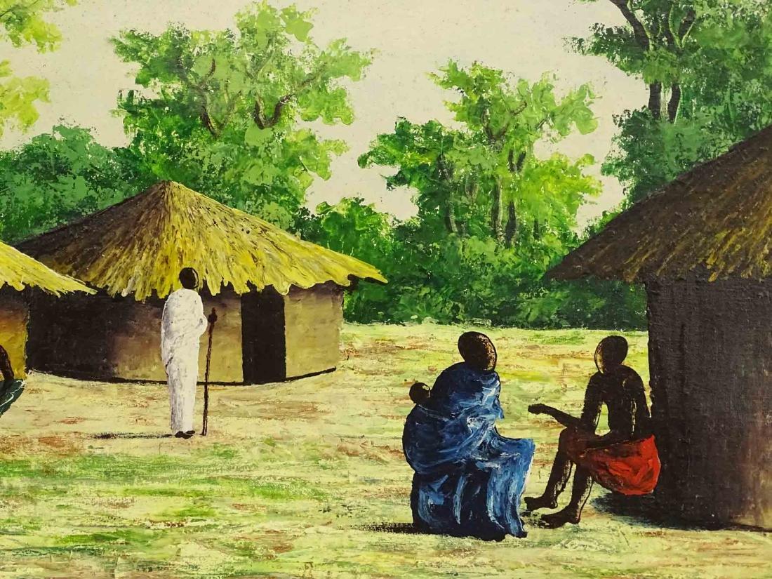 Haitian School, Village Scene - 4
