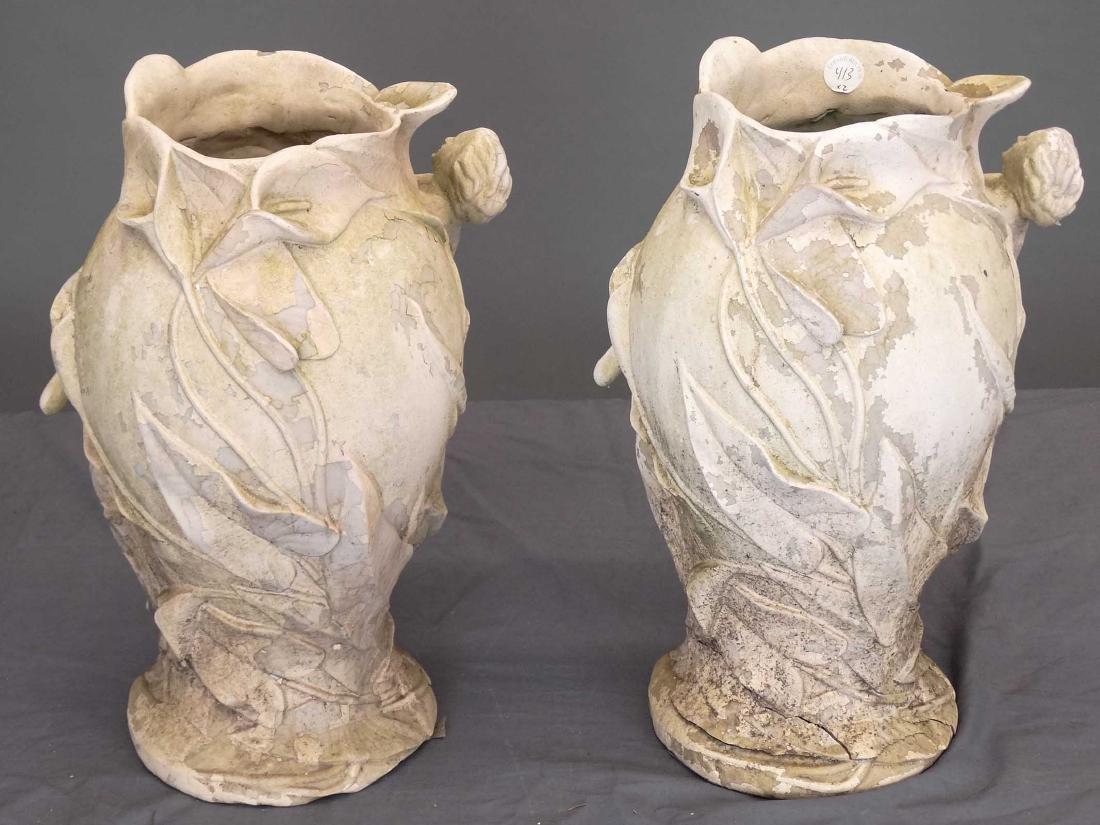 Pair Composition Art Nouveau Style Vases - 2