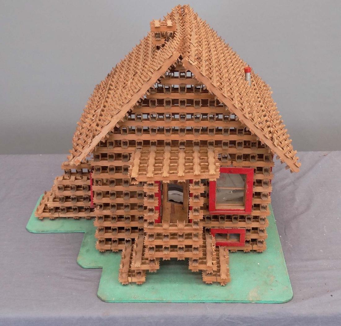 Crown Of Thorns Tramp Art House Model - 2