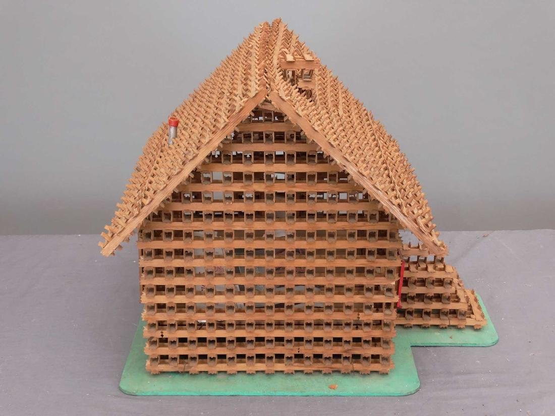 Crown Of Thorns Tramp Art House Model - 4