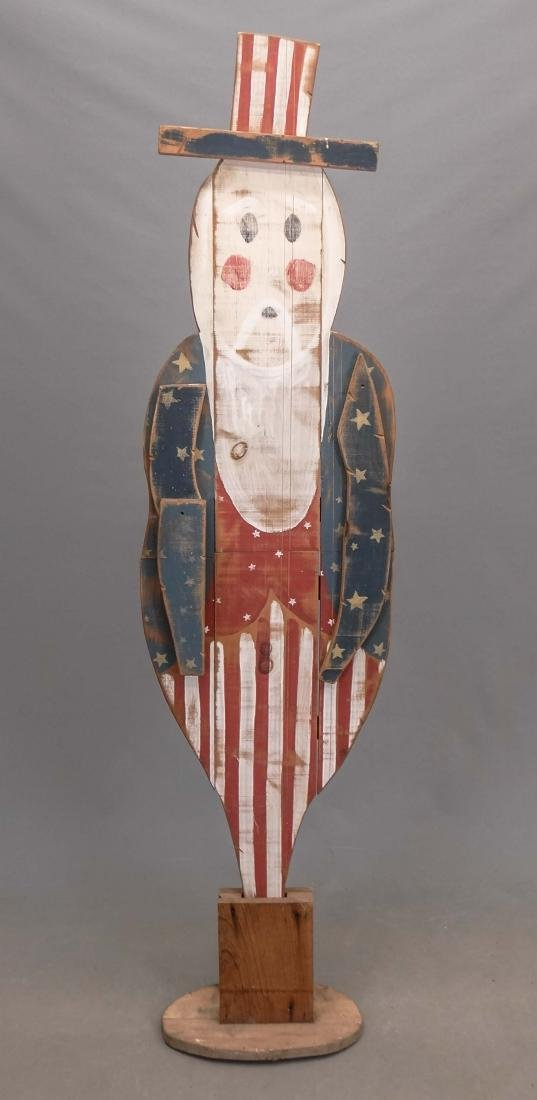 Uncle Sam Wooden Figure