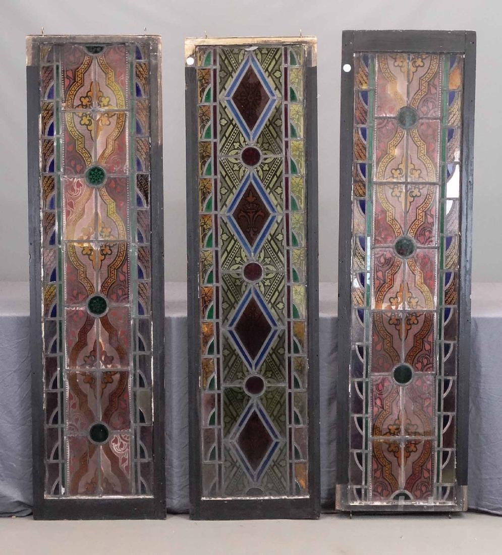 19th c. Stained Glass Panels