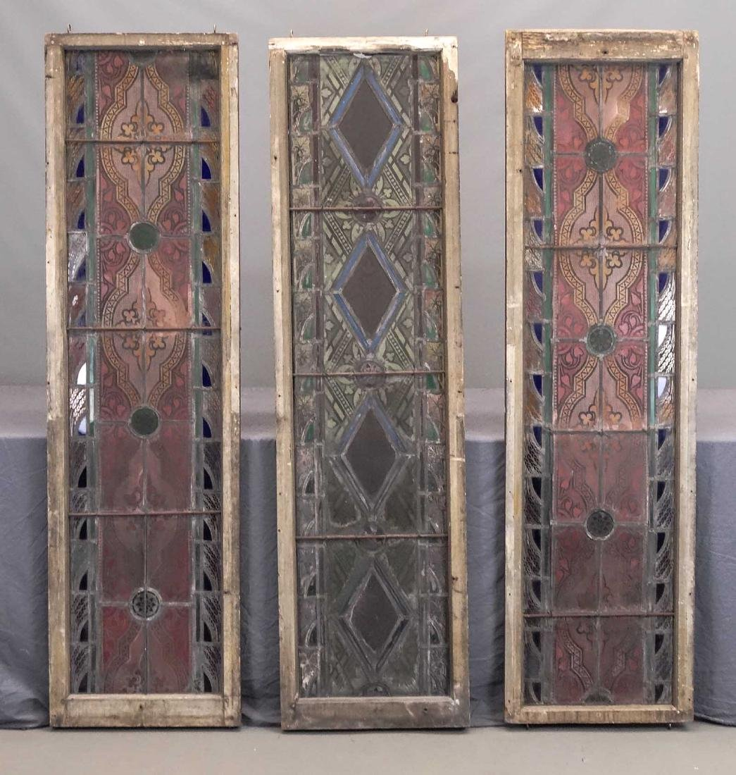 19th c. Stained Glass Panels - 2