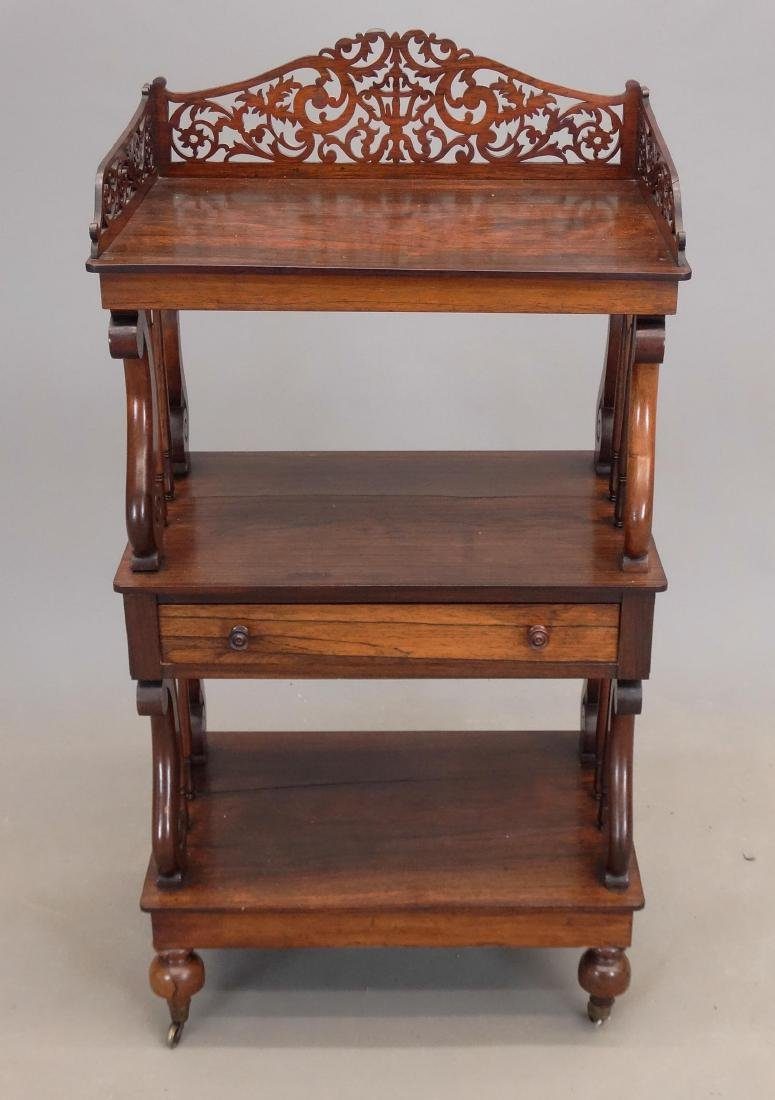 19th c. Rosewood Etagere - 2