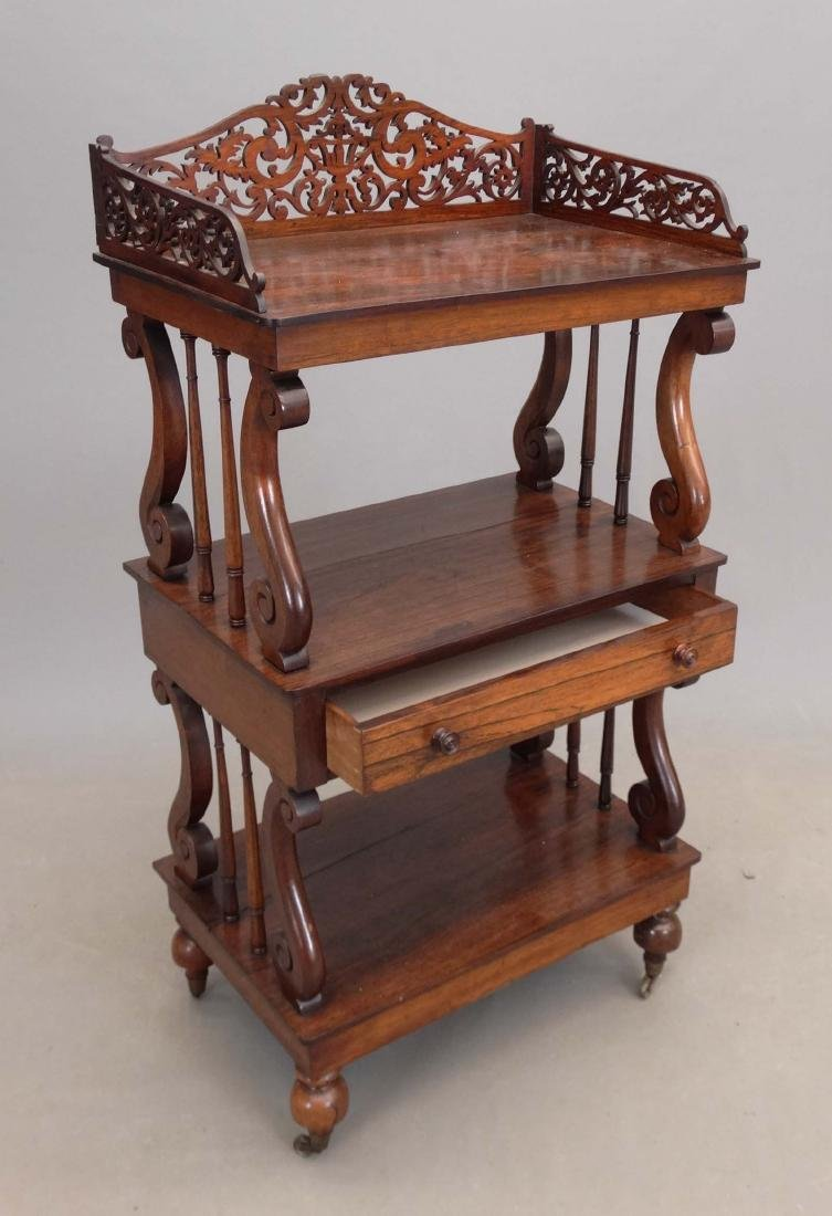 19th c. Rosewood Etagere - 3