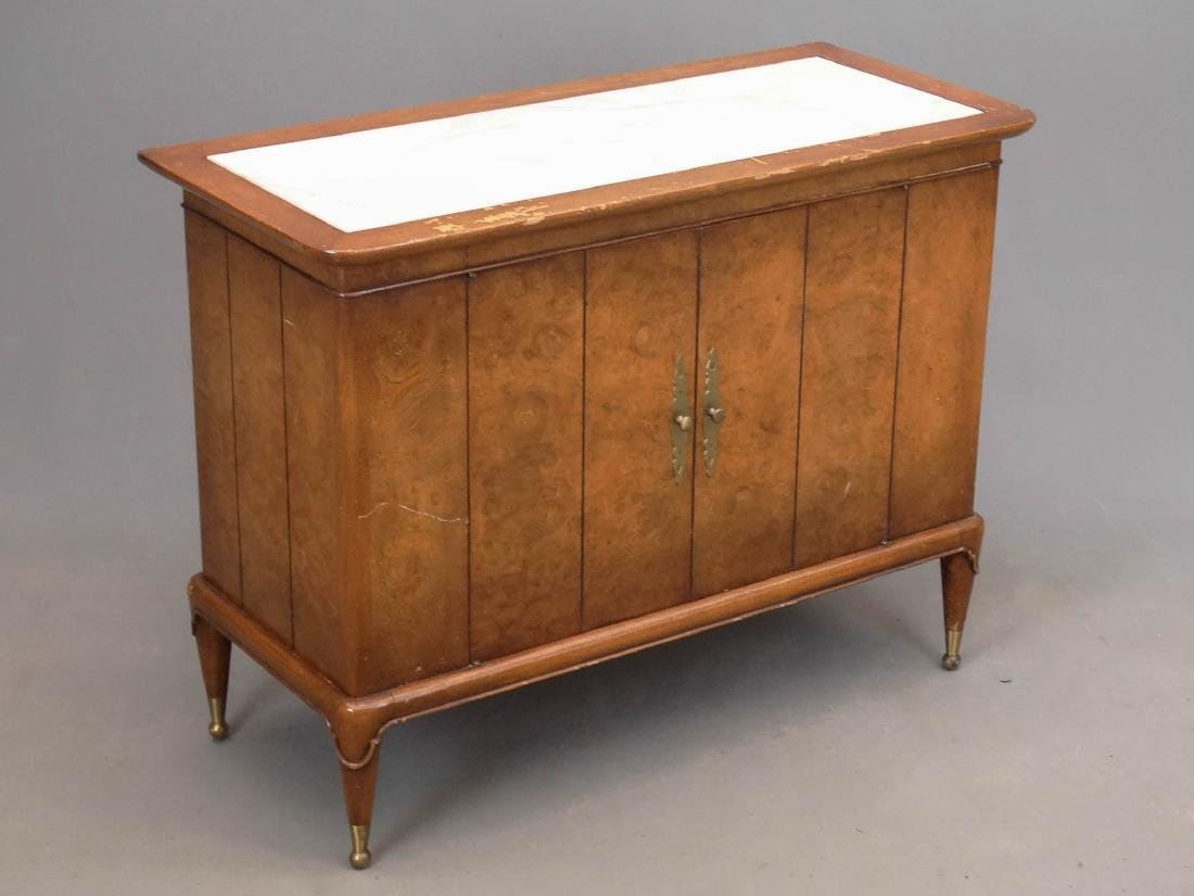 Mid Century Marble Top Cabinet