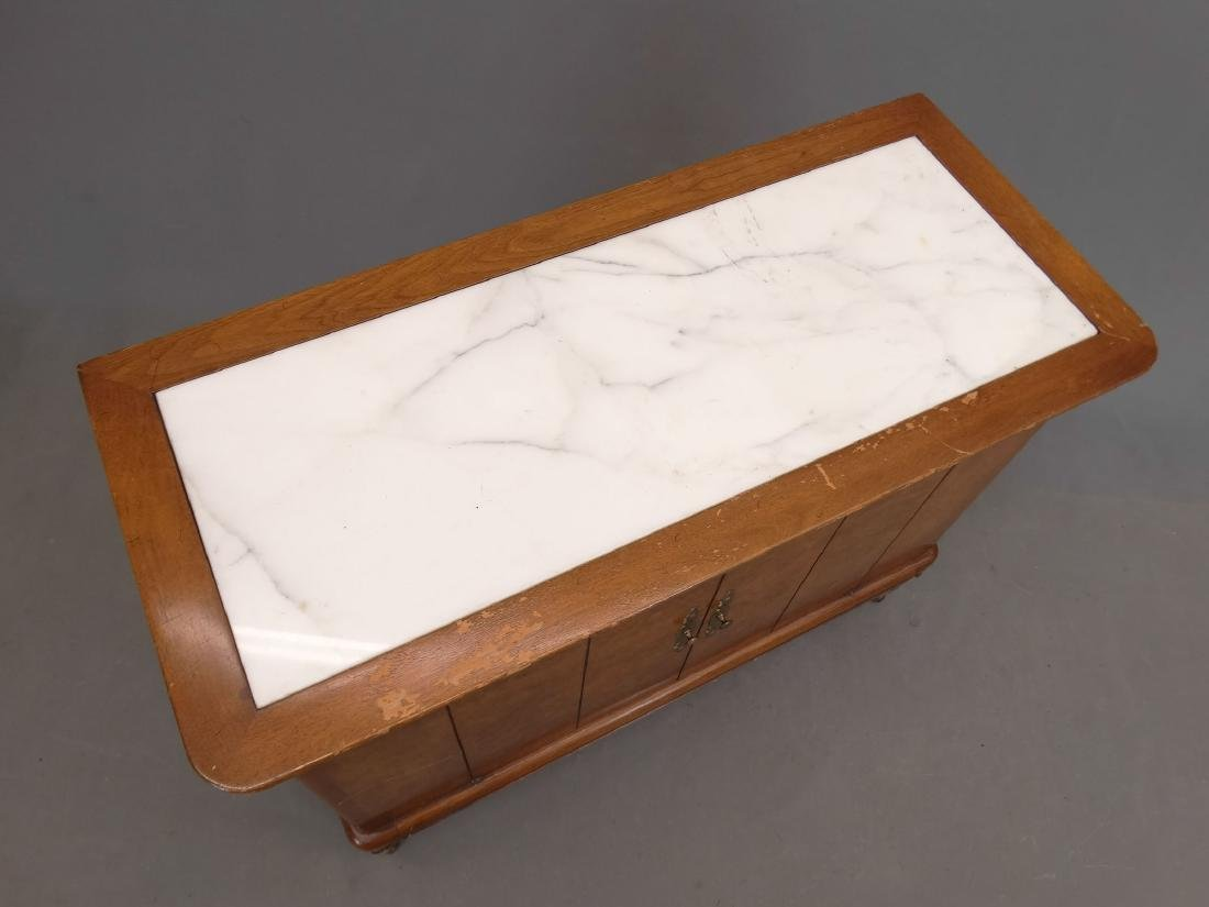 Mid Century Marble Top Cabinet - 2