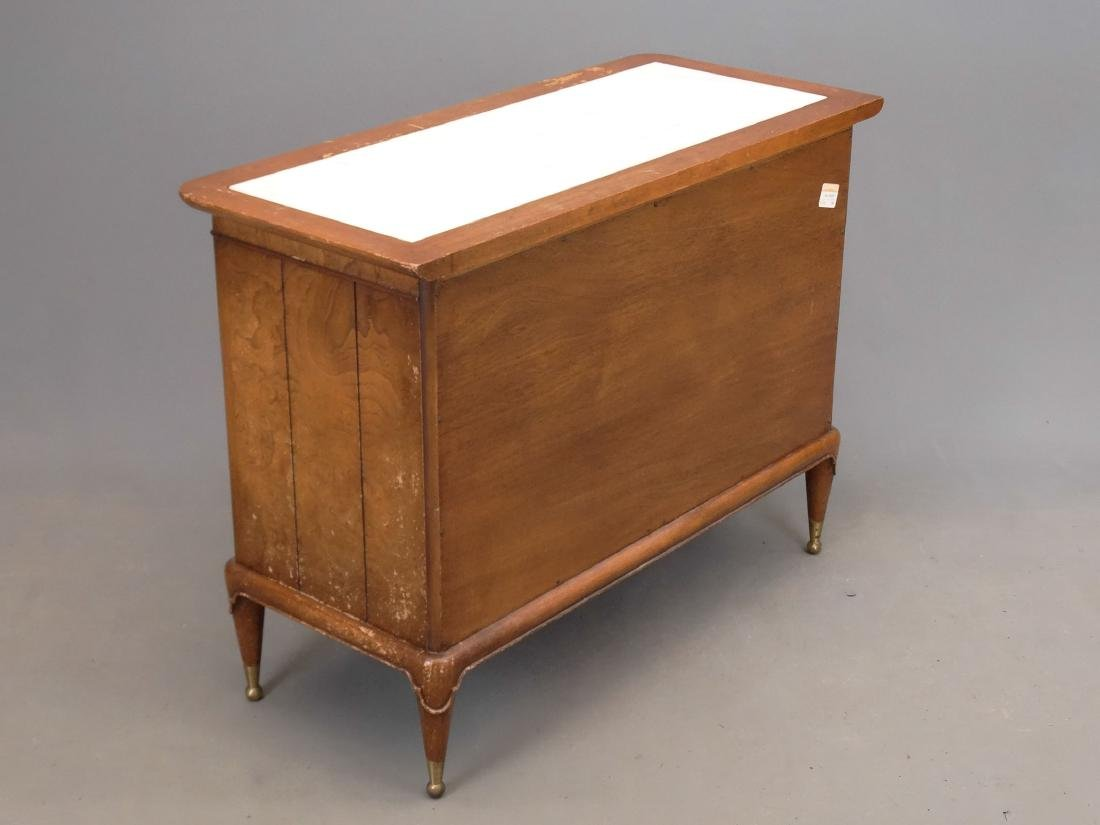 Mid Century Marble Top Cabinet - 4