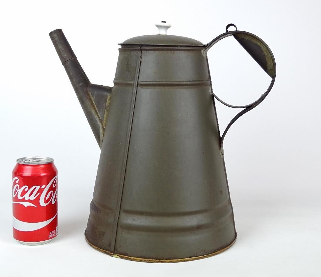 19th c. Tin Coffee Pot