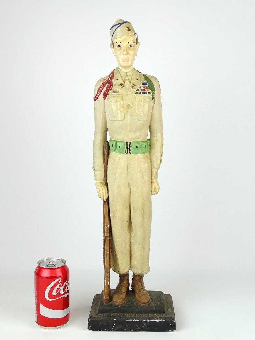 Chalkware Statue Of Soldier