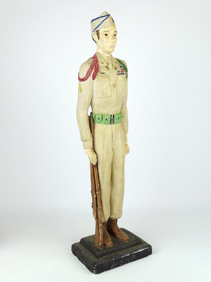 Chalkware Statue Of Soldier - 2