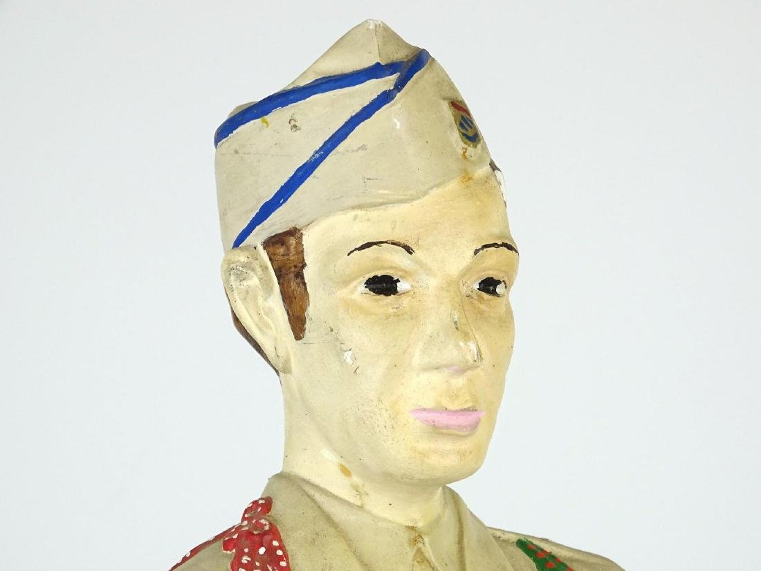 Chalkware Statue Of Soldier - 3