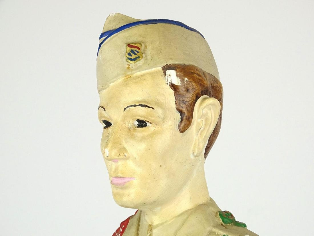 Chalkware Statue Of Soldier - 5