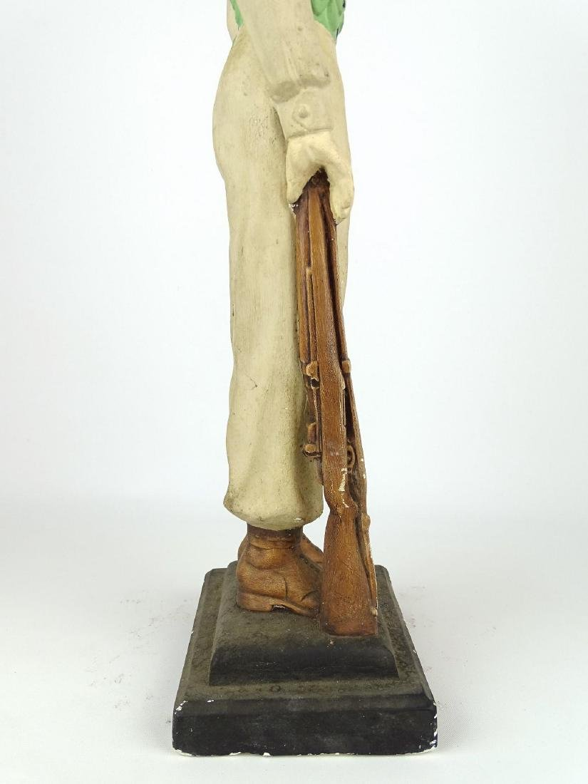 Chalkware Statue Of Soldier - 8