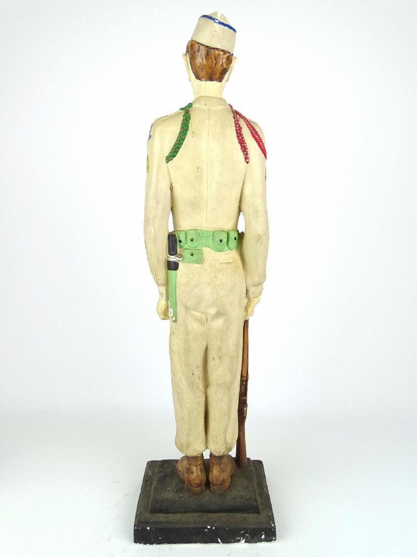 Chalkware Statue Of Soldier - 9