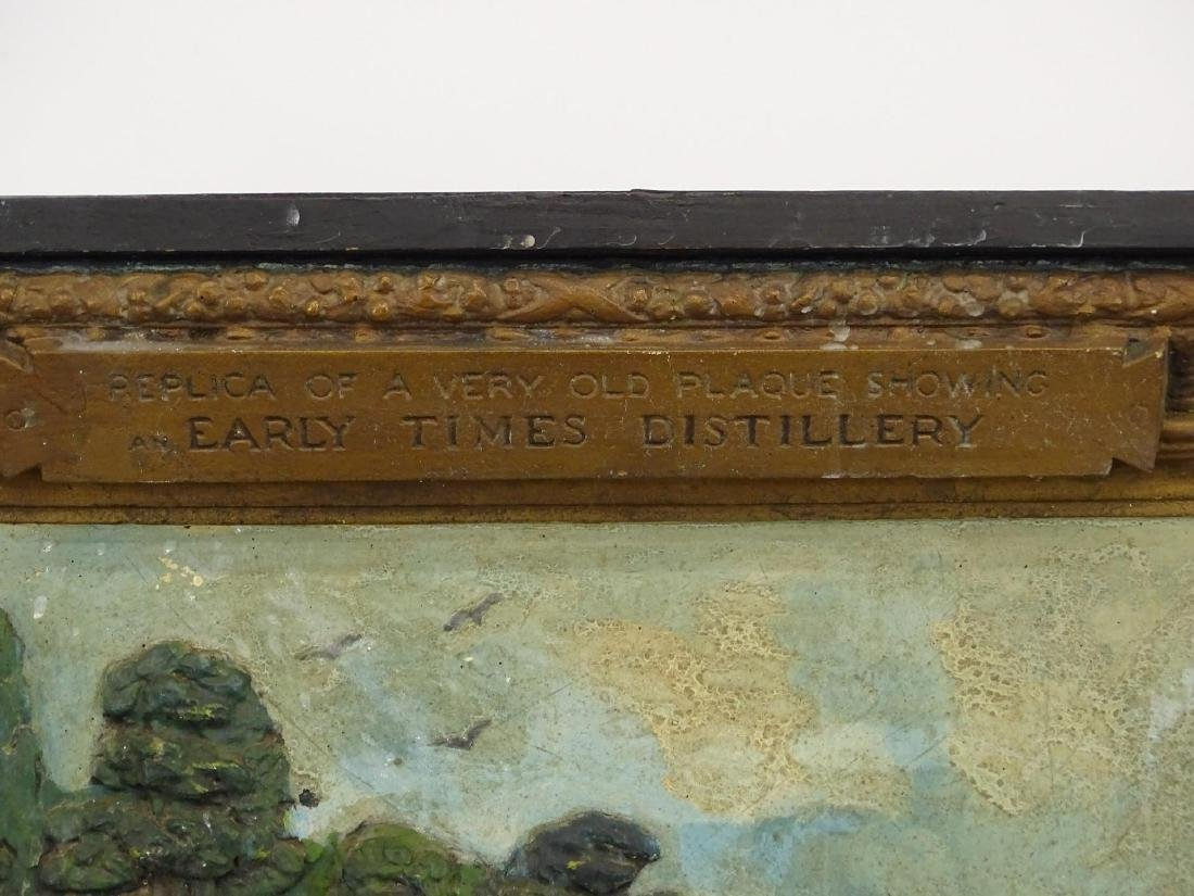 Early Distillery Advertising Plaque - 4
