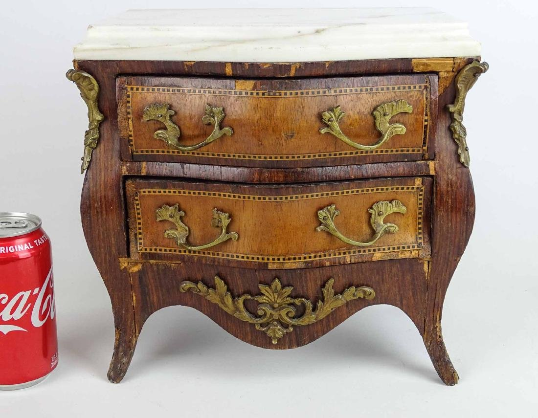 Miniature French Marble Top Dresser