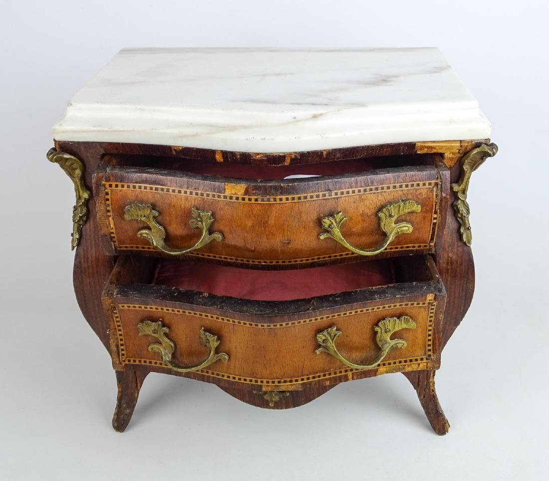 Miniature French Marble Top Dresser - 6