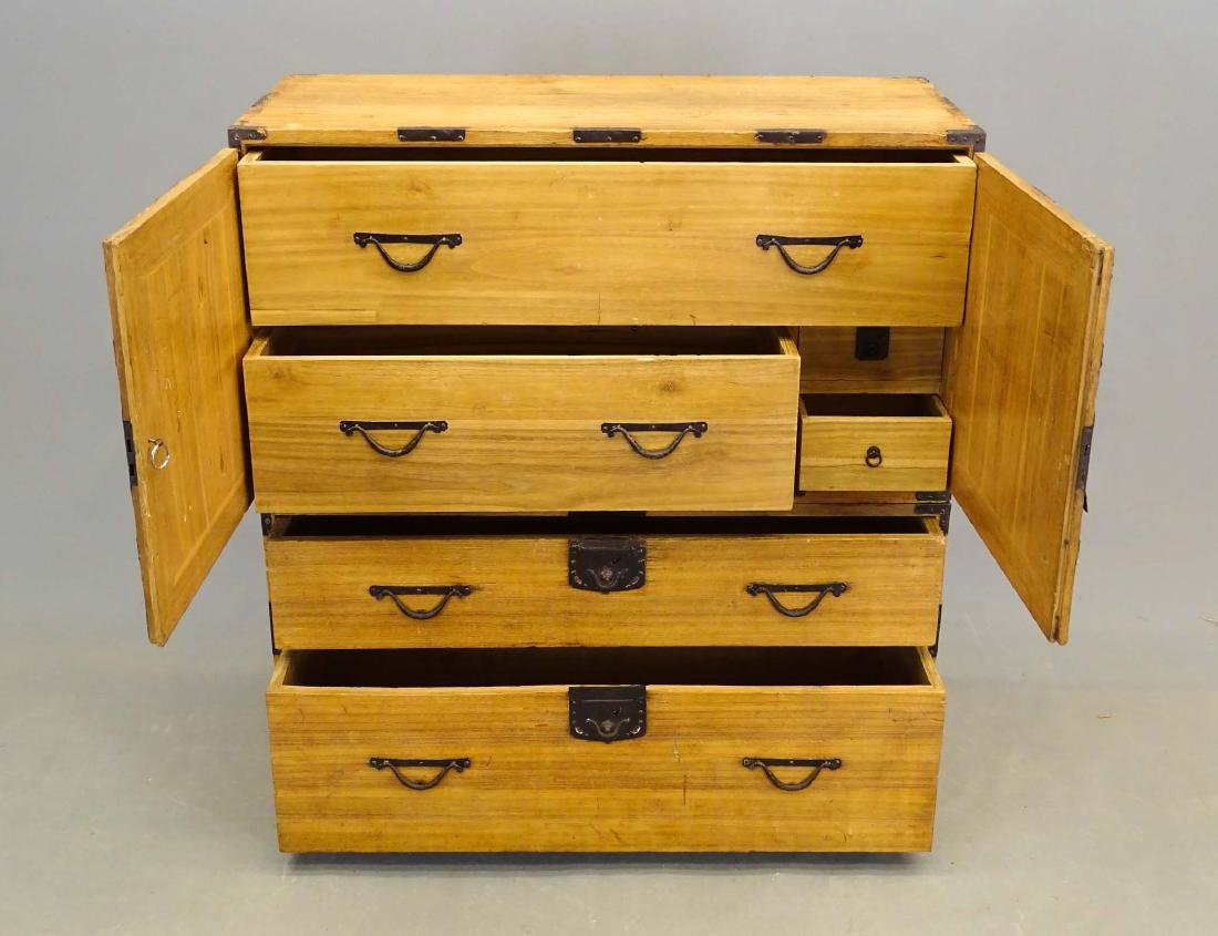 Tansu Chest On Cabinet - 2