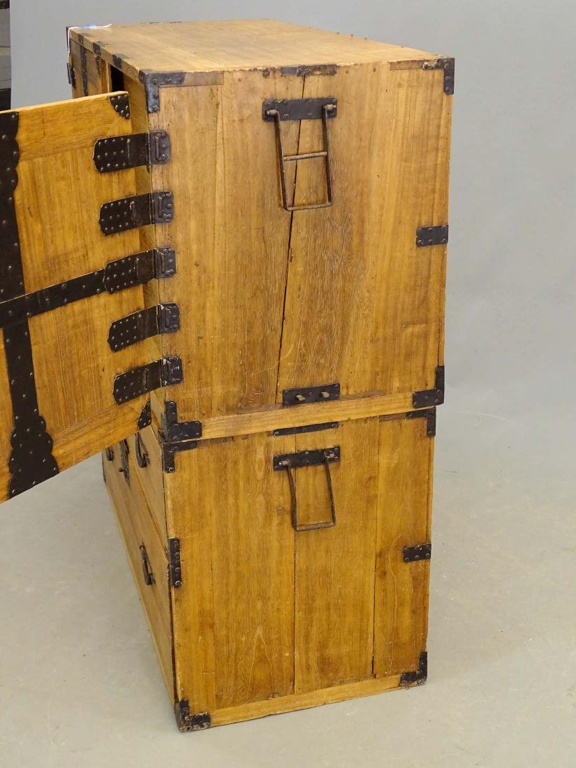 Tansu Chest On Cabinet - 3