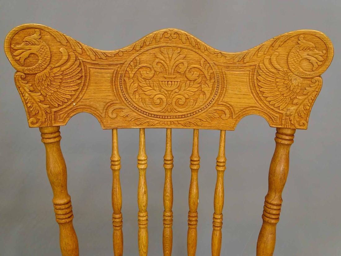 Pair Oak Chairs - 2