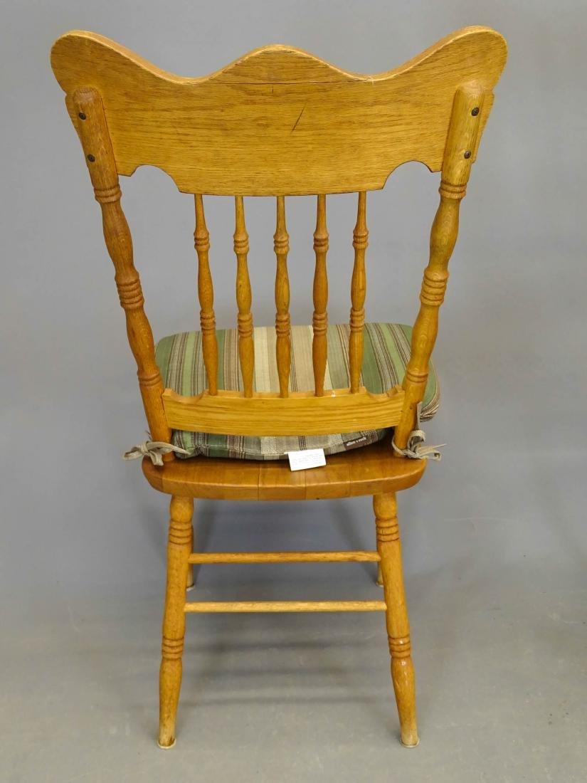 Pair Oak Chairs - 3
