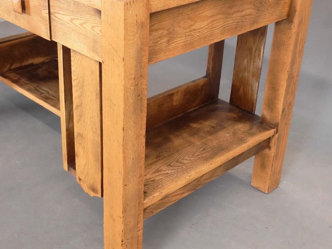 Mission Oak Library Desk - 4