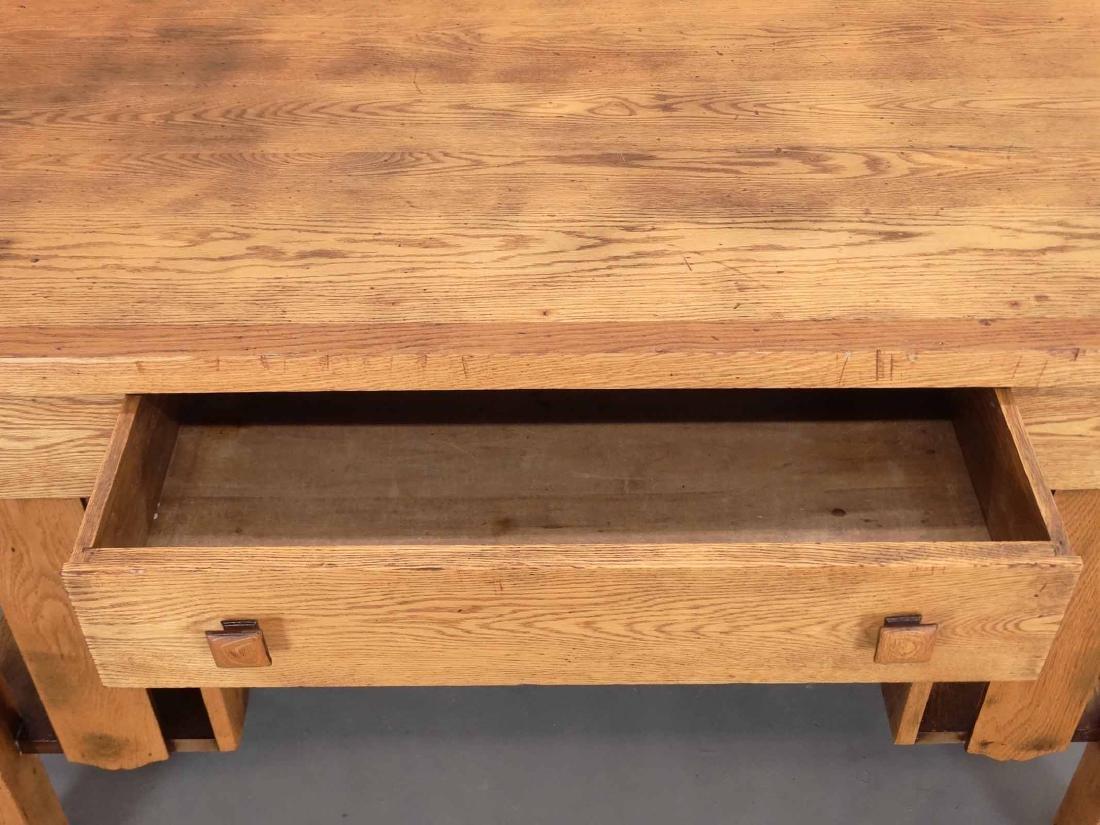 Mission Oak Library Desk - 5