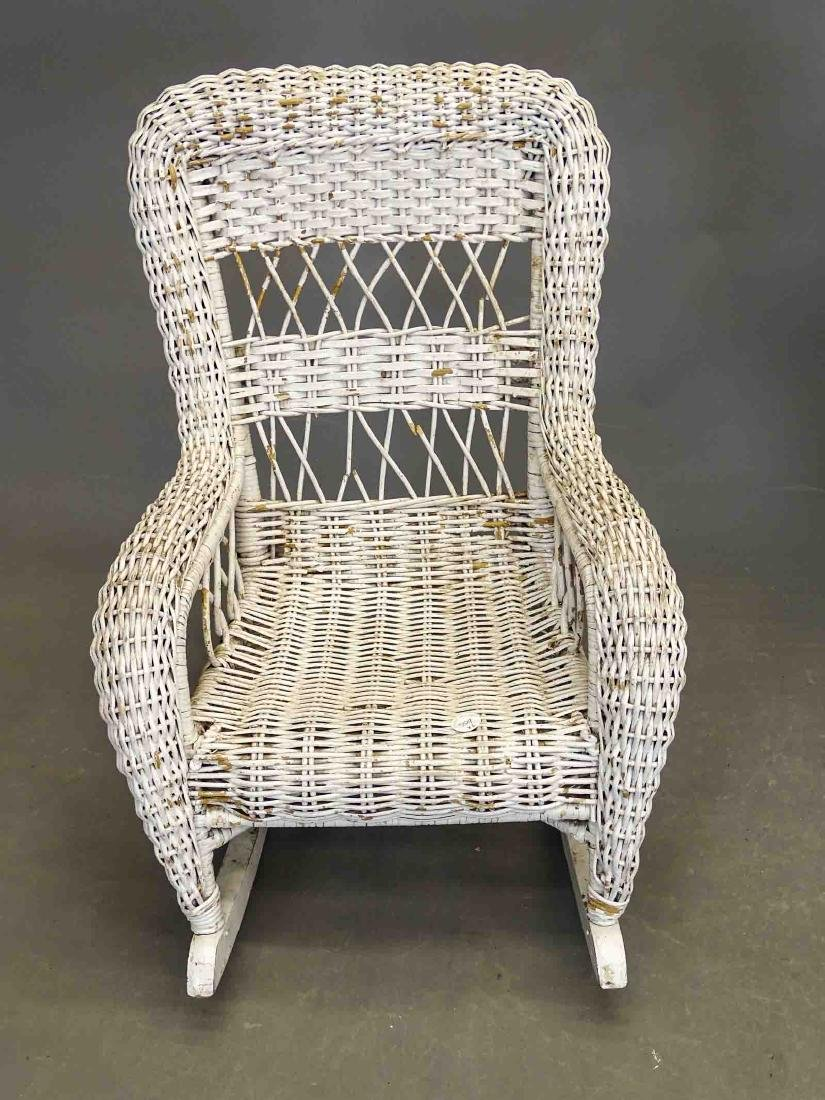 Wicker Table & Child's Chair - 2