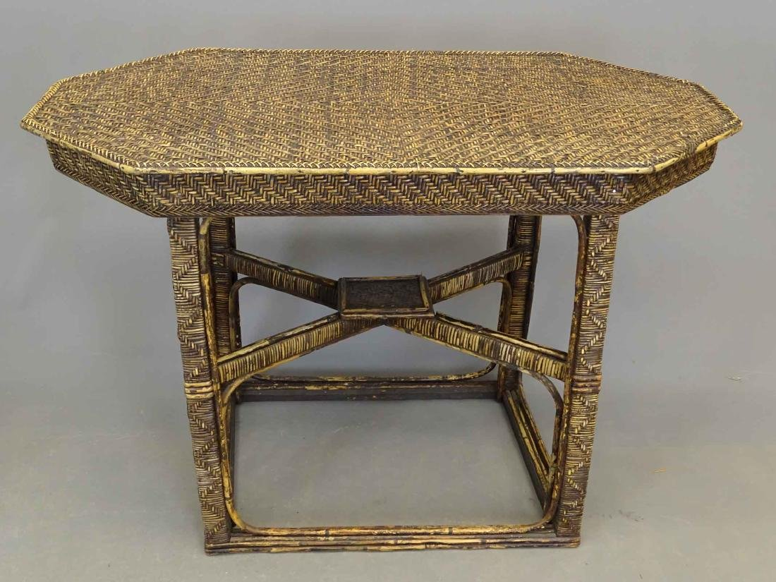 Wicker Table & Child's Chair - 3