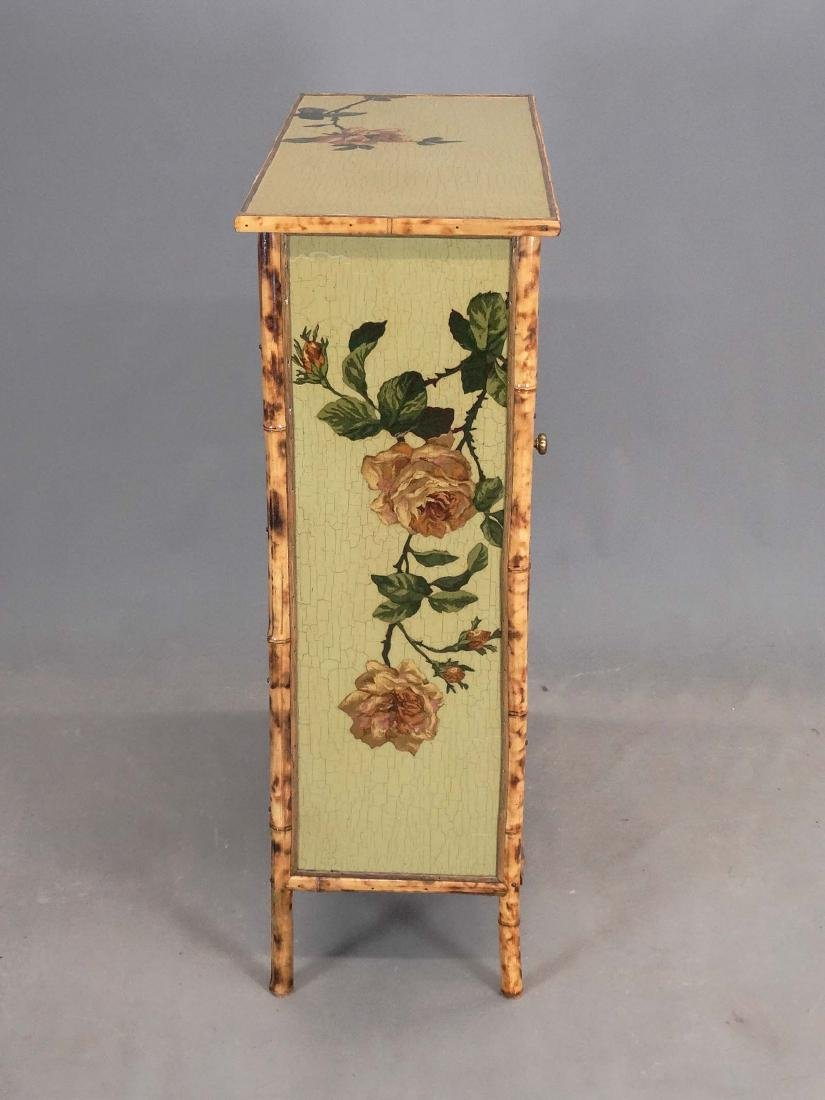 Paint Decorated Bamboo Cabinet - 2
