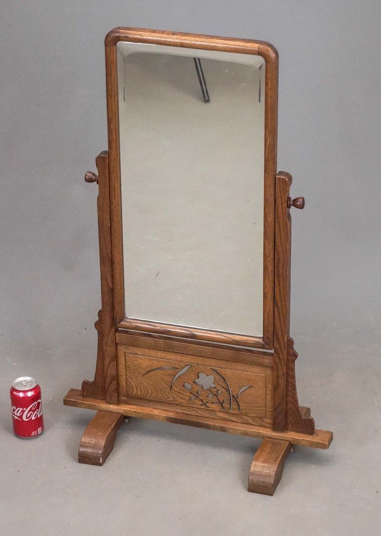 Oak Table Top Mirror