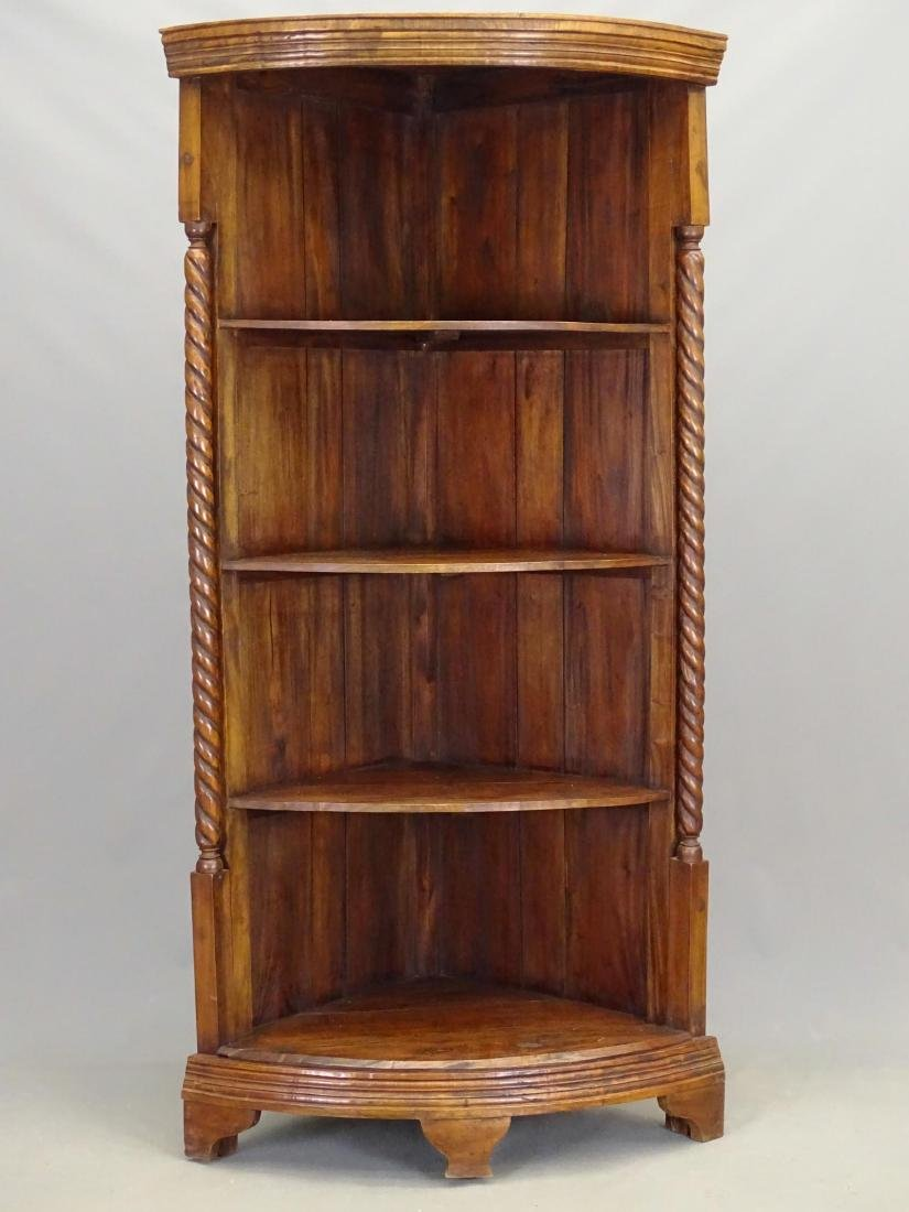 Mahogany Corner Shelf