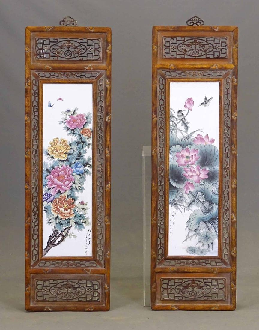 Pair Chinese Panels