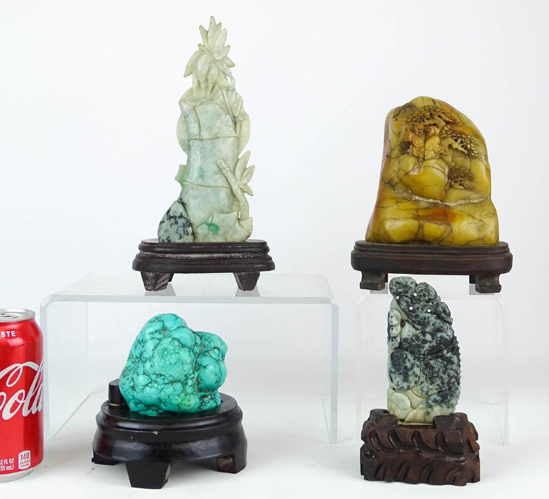 Asian Carved Stone Lot