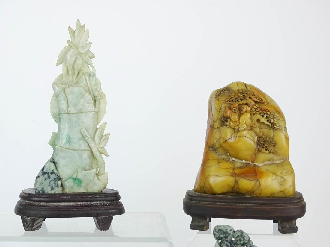 Asian Carved Stone Lot - 2