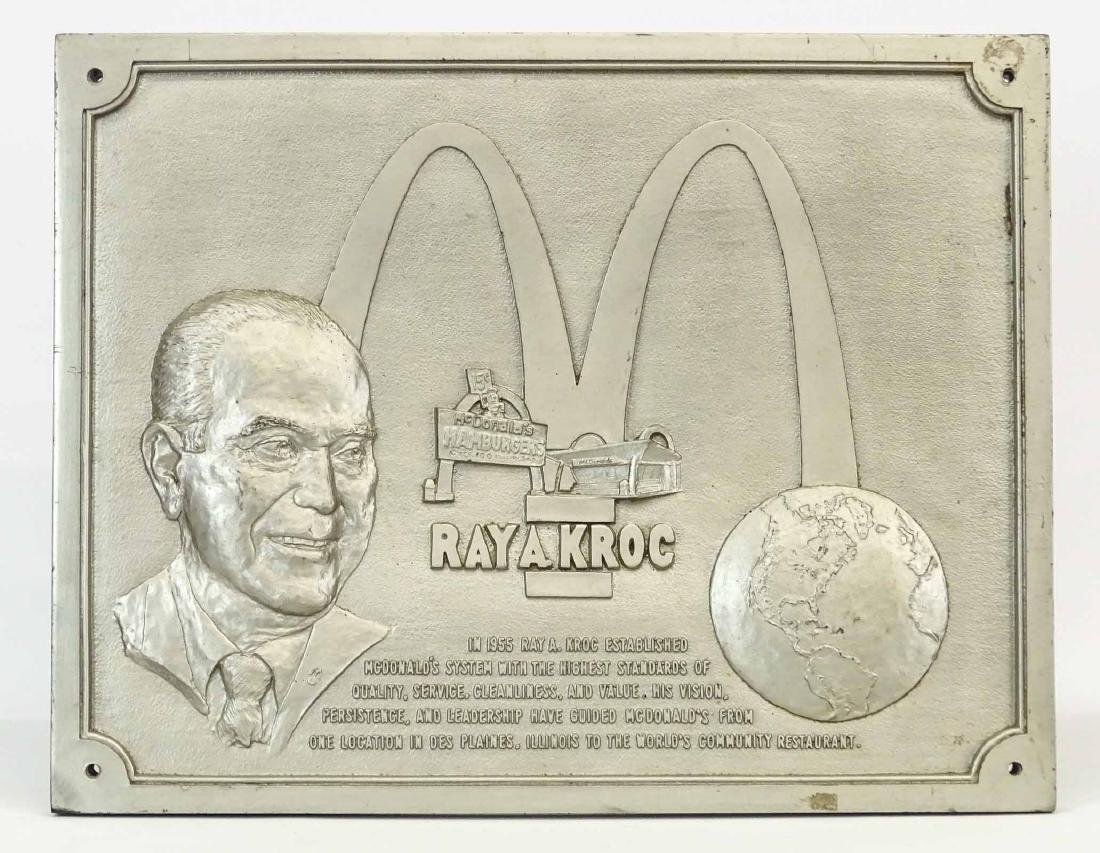 McDonalds Restaurant Ray Kroc Plaque