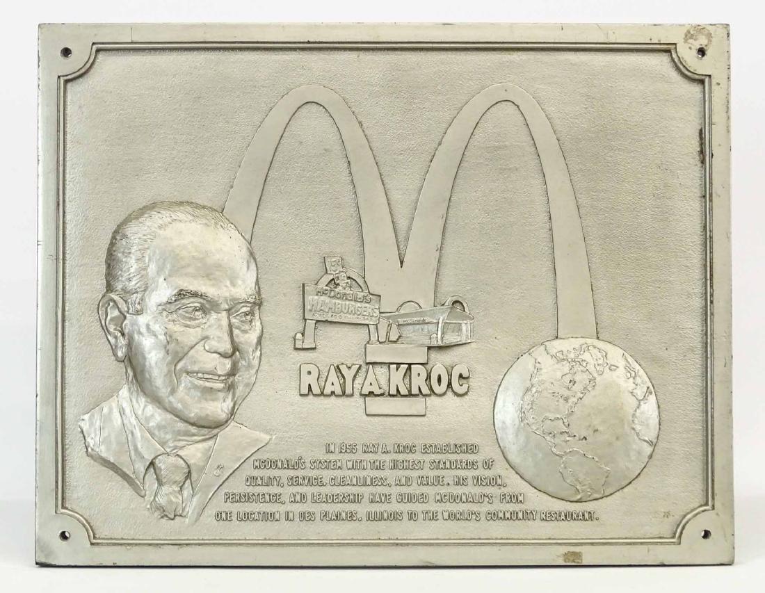 McDonalds Restaurant Ray Kroc Plaque