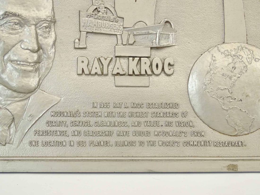 McDonalds Restaurant Ray Kroc Plaque - 2