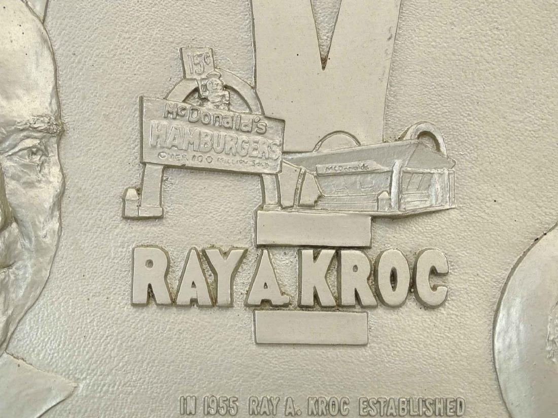 McDonalds Restaurant Ray Kroc Plaque - 3