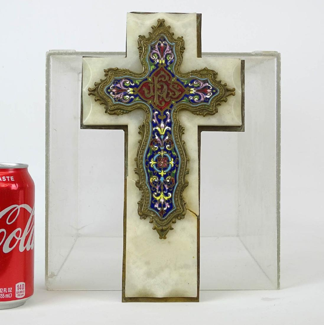 Early Enameled Marble Cross