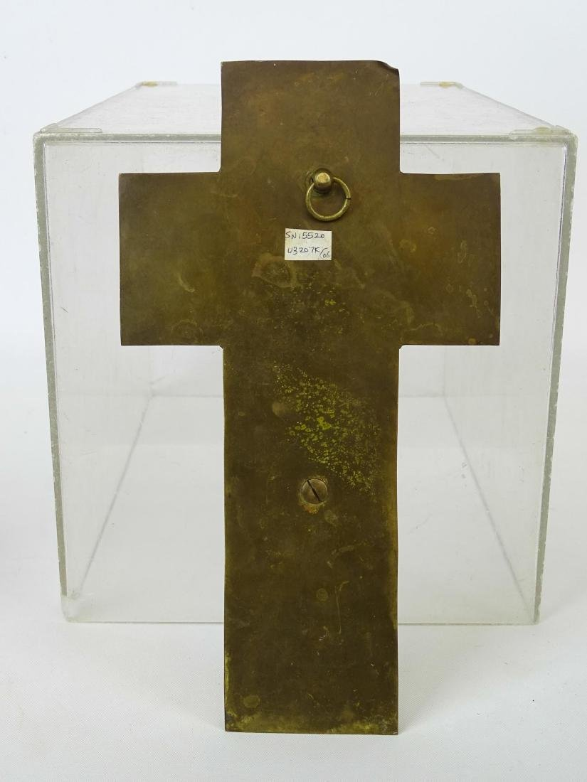 Early Enameled Marble Cross - 6