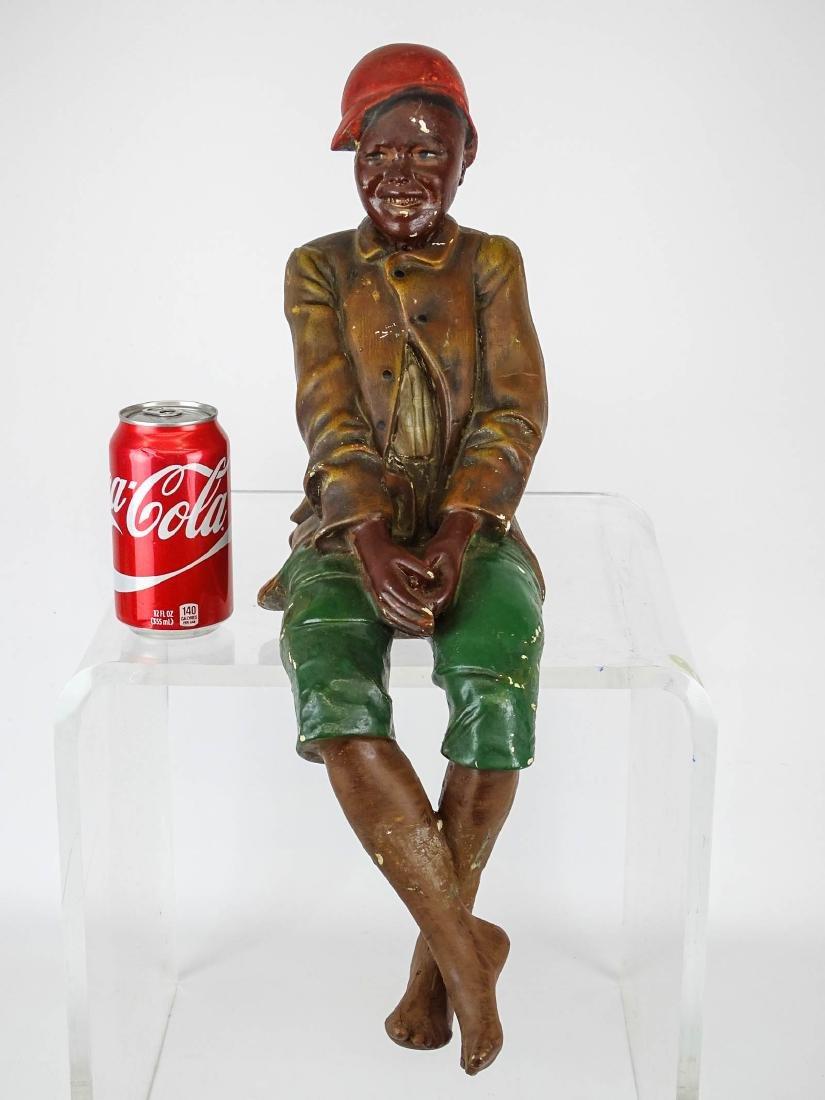 Early Plaster Black Americana Figure