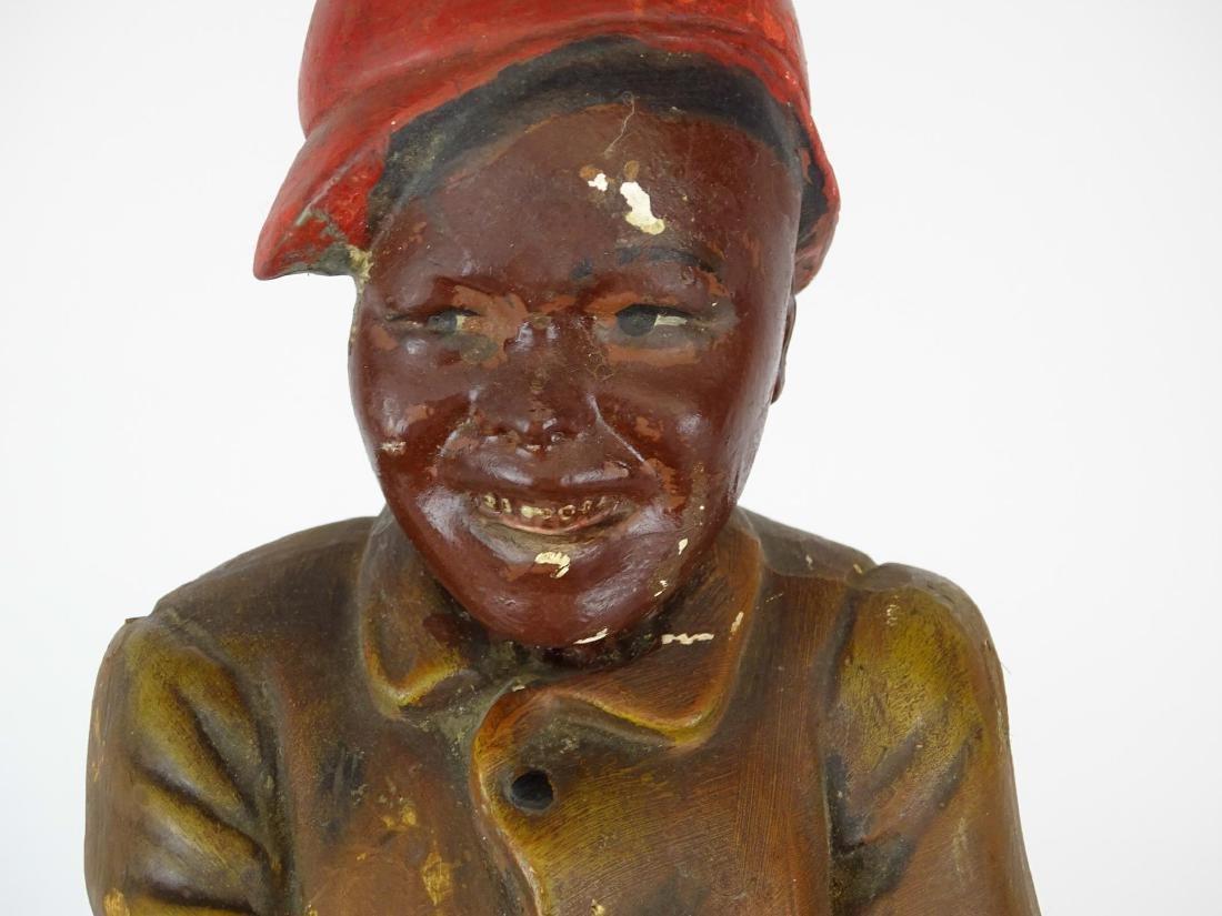 Early Plaster Black Americana Figure - 3