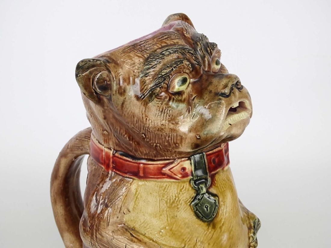 Early Bulldog Pottery Pitcher - 2