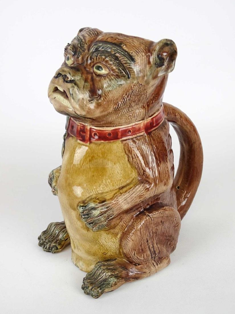 Early Bulldog Pottery Pitcher - 3