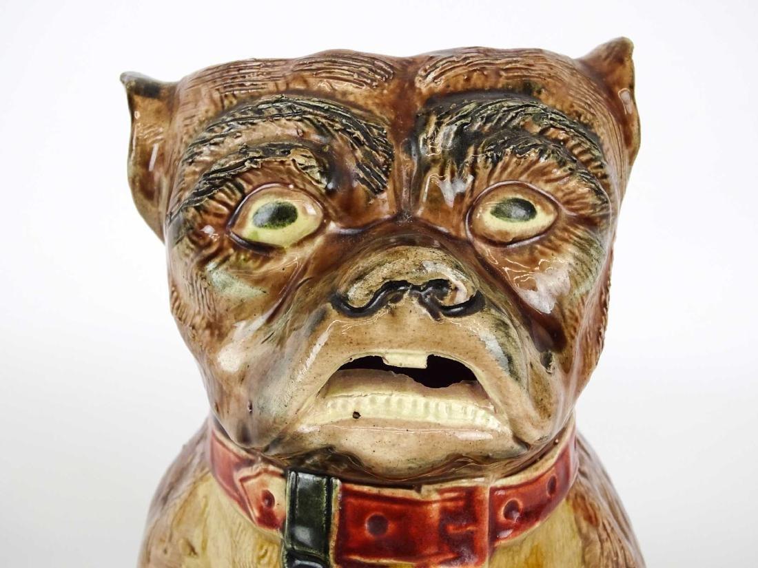 Early Bulldog Pottery Pitcher - 5