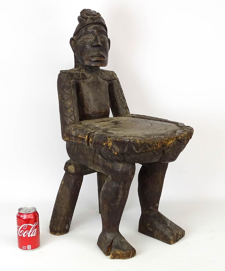 Ethnic Wooden Carved Stool