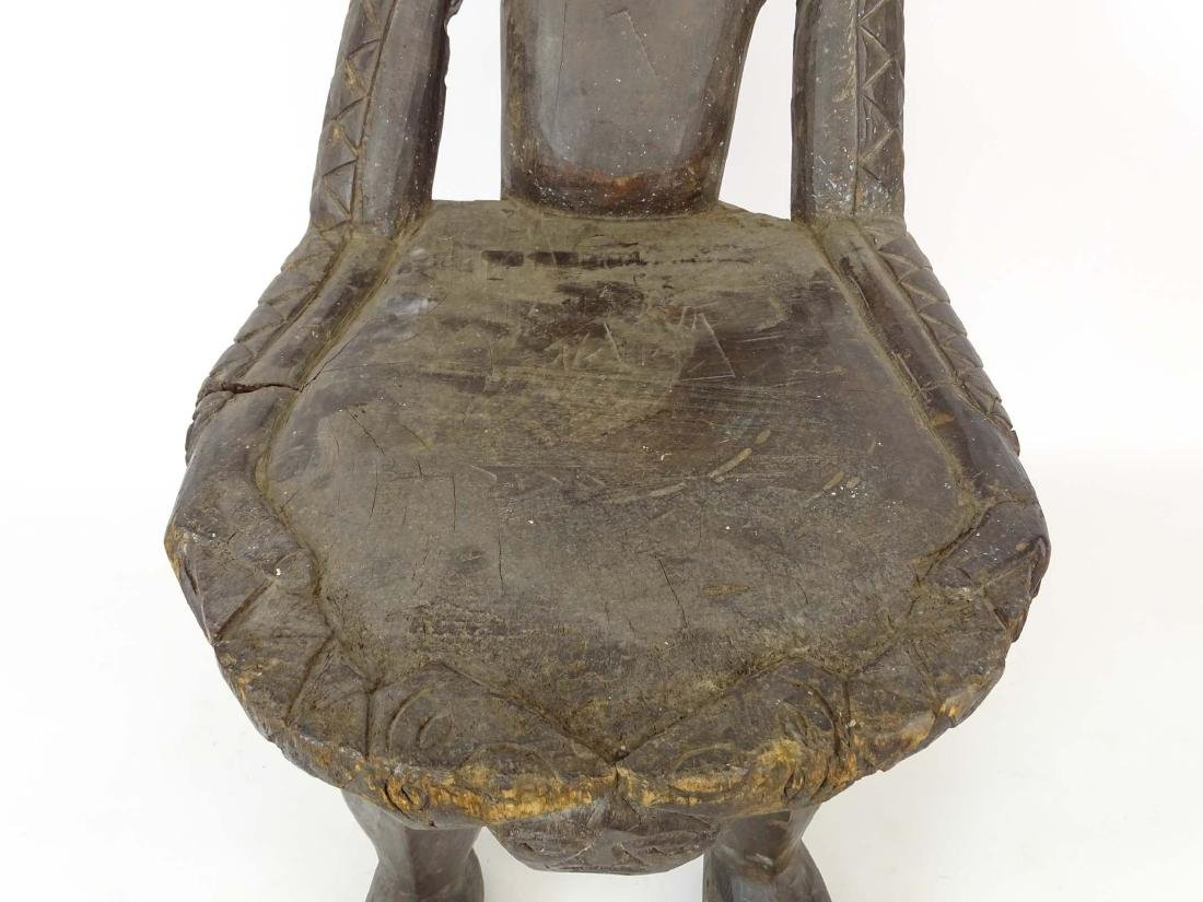 Ethnic Wooden Carved Stool - 3